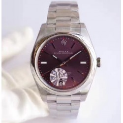 Replica Rolex Oyster Perpetual 39 114300 JF Stainless Steel Red Dial Swiss 3132