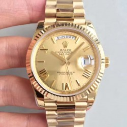 Replica Rolex Day-Date 40 228238 N Yellow Gold Champagne Dial Swiss 3255
