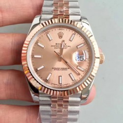 Replica Rolex Datejust II 116333 41MM N Stainless Steel & Rose Gold Rose Gold Dial Swiss 3235