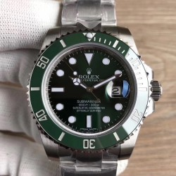 Replica Rolex Submariner Date 116610LV VR Stainless Steel Green Dial Swiss 2836-2