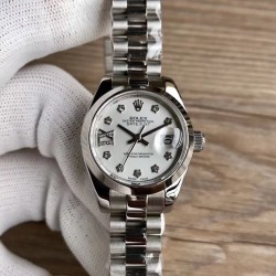 Replica Rolex Lady Datejust 28 279166 28MM WF Stainless Steel Silver Dial Swiss 2671