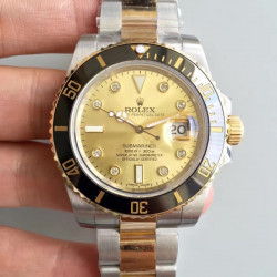 Replica Rolex Submariner Date 116613LN 2018 N V8S 24K Yellow Gold Wrapped & Stainless Steel Champagne Dial Swiss 3135