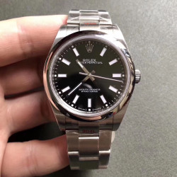 Replica Rolex Oyster Perpetual 39 114300 GM Stainless Steel 904L Black Dial Swiss 3132