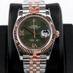 Replica Rolex Datejust 36MM 116231 GM Stainless Steel 904L & Rose Gold Green Dial Swiss 2824-2