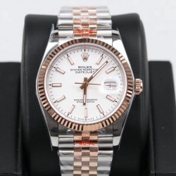 Replica Rolex Datejust 36MM 116231 GM Stainless Steel 904L & Rose Gold White Dial Swiss 2824-2