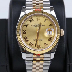 Replica Rolex Datejust 36MM 116233 GM Stainless Steel 904L & Yellow Gold Champagne Dial Swiss 2824-2