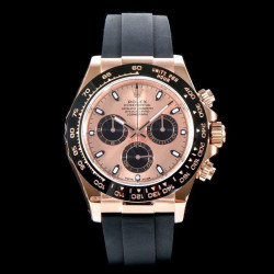 Replica Rolex Daytona Cosmograph 116515LN AR V2 Rose Gold Plated Stainless Steel 904L Rose Gold Dial Swiss 4130 Run 6@SEC