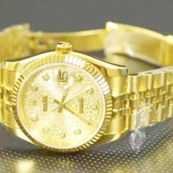 Replica Rolex Datejust 116238 36MM Yellow Gold Champagne Dial Swiss 2836-2