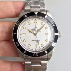 Replica Rolex Submariner 6538 Big Crown LF Stainless Steel White Dial Swiss 2836-2