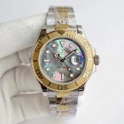 Replica Rolex Yacht-Master 40 116622 JF Stainless Steel & Yellow Gold Blue Mother Of Pearl  Dial Swiss 2836-2