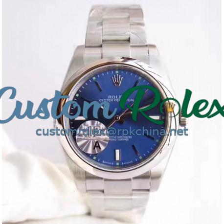 Replica Rolex Oyster Perpetual 39 114300 JF Stainless Steel Blue Dial Swiss 3132