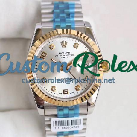 Replica Rolex Datejust 36 116233 36MM N Stainless Steel & Yellow Gold Rhodium Dial Swiss 2836-2