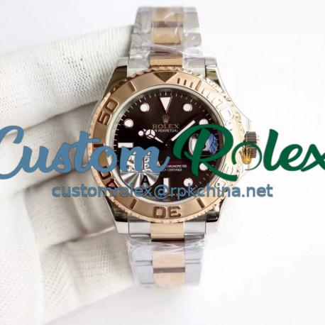 Replica Rolex Yacht-Master 40 116621 JF Stainless Steel & Rose Gold Chocolate Dial Swiss 2836-2