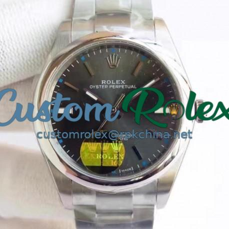 Replica Rolex Oyster Perpetual 39 114300 2018 UB Stainless Steel Anthracite Dial Swiss 2836-2