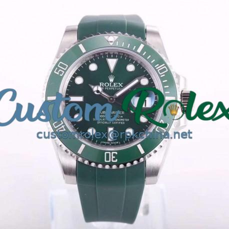 Replica Rolex Submariner Date 116610LV OR Stainless Steel Green Dial Swiss 2836-2