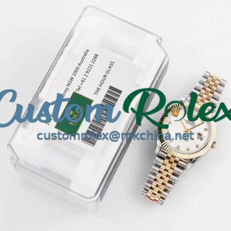 Replica Rolex Datejust II 116333 41MM GM Stainless Steel & Yellow Gold Mother Of Pearl Dial Swiss 3235