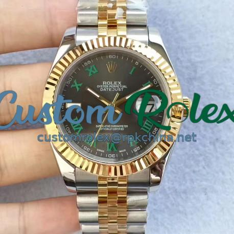 Replica Rolex Datejust II 126333 41MM N Stainless Steel & Yellow Gold Black Dial Swiss 2836-2