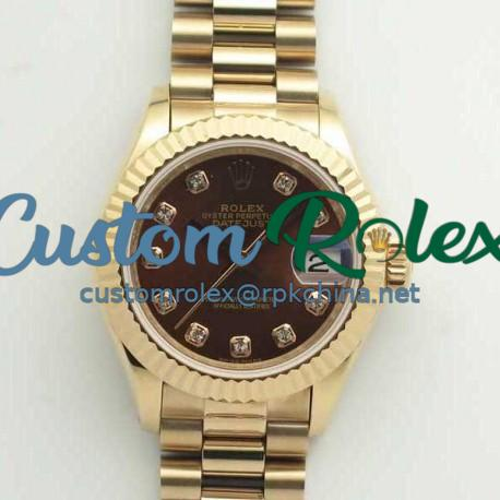 Replica Rolex Lady Datejust 28 279165 28MM BP Rose Gold Chocolate Dial Swiss 2671