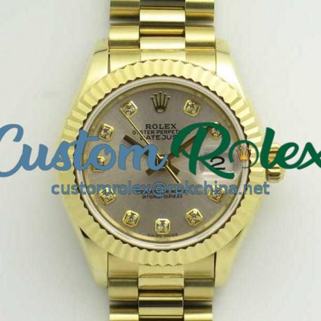 Replica Rolex Lady Datejust 28 279178 28MM BP Yellow Gold Silver Dial Swiss 2671