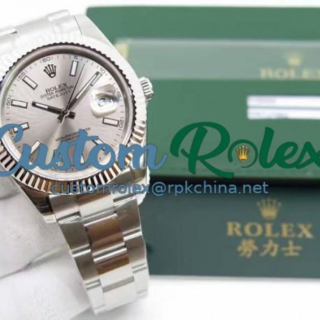 Replica Rolex Datejust II 116334 41MM EW Stainless Steel Anthracite Dial Swiss 3136