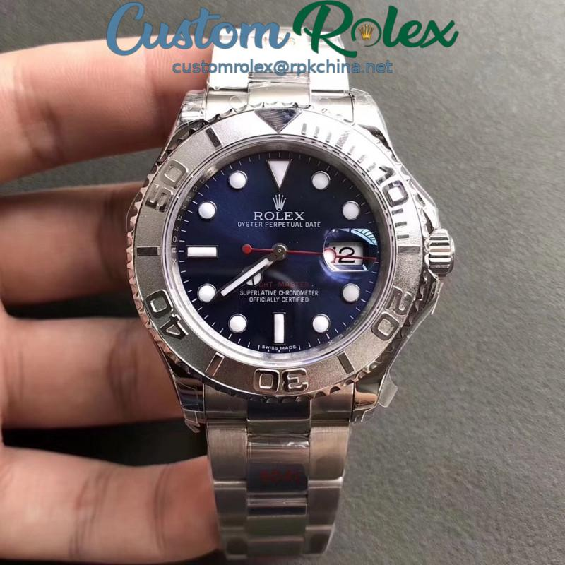 Replica Rolex Yacht-Master 40 116622 GM Stainless Steel 904L Blue Dial Swiss 3135