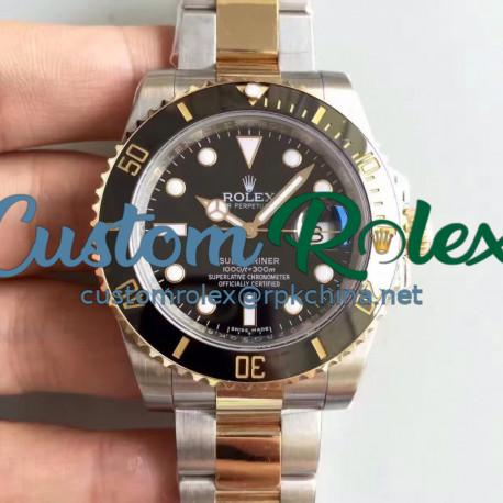Replica Rolex Submariner Date 116613LN 2018 N V8S 24K Yellow Gold Wrapped & Stainless Steel Black Dial Swiss 3135