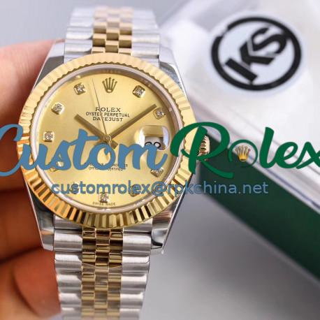 Replica Rolex Datejust II 116333 41MM KS Stainless Steel & Yellow Gold Champagne Dial Swiss 2836-2