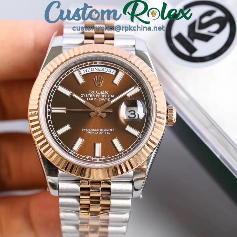 Replica Rolex Datejust II 116333 41MM KS Stainless Steel & Rose Gold Chocolate Dial Swiss 2836-2