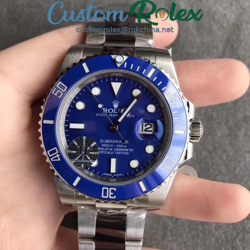 Replica Rolex Submariner Date 116619LB JF Stainless Steel Blue Dial Swiss 2824-2