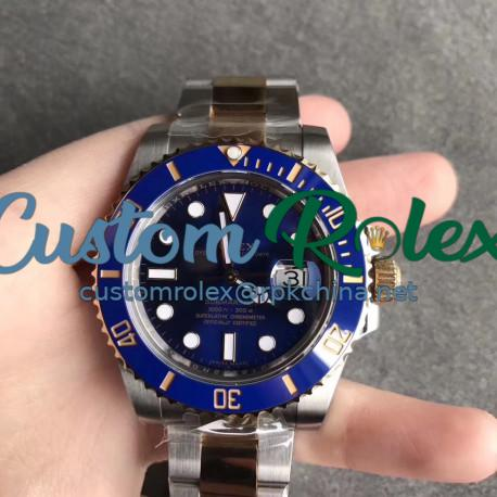 Replica Rolex Submariner Date 116613LB AR V2 Yellow Gold & Stainless Steel 904L Blue Dial Swiss 3135