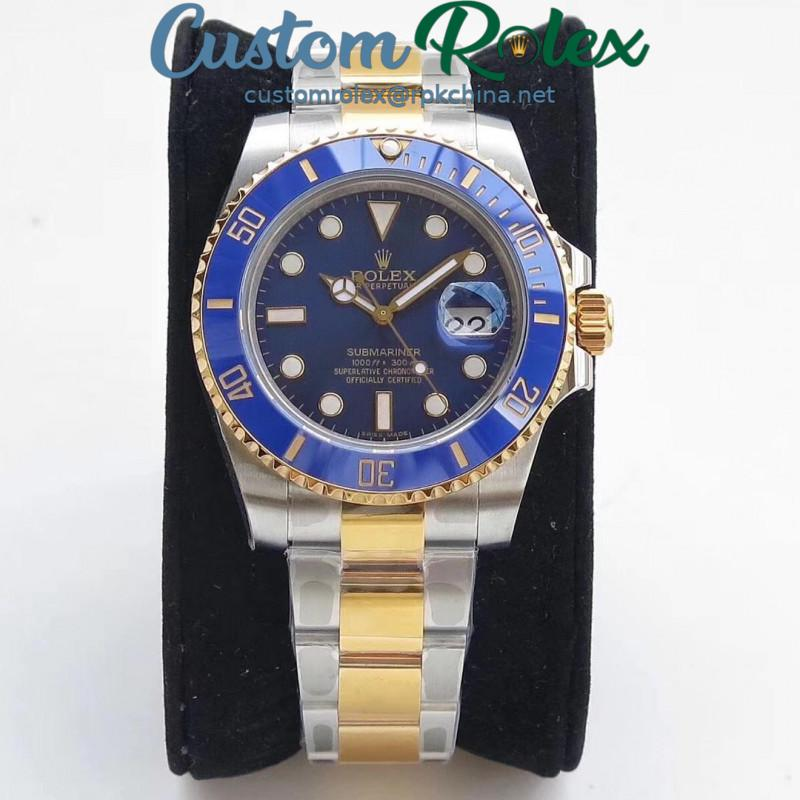 Replica Rolex Submariner Date 116613LB VR 18K Yellow Gold Wrapped & Stainless Steel Blue Dial Swiss 2836-2