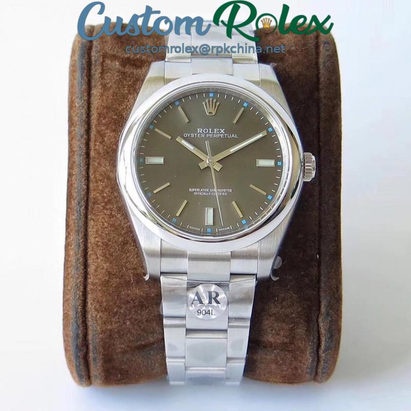 Replica Rolex Oyster Perpetual 39 114300 AR Stainless Steel 904L Anthracite Dial Swiss 3132