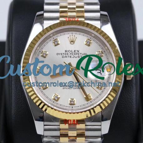 Replica Rolex Datejust 36MM 116233 GM Stainless Steel 904L & Yellow Gold Silver Dial Swiss 2824-2