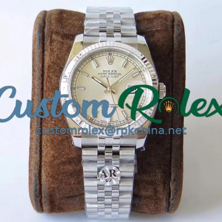 Replica Rolex Datejust 36MM 116234 AR V2 Stainless Steel 904L Silver Dial Swiss 3135