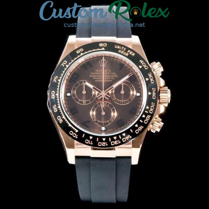 Replica Rolex Daytona Cosmograph 116515LN AR V2 Rose Gold Plated Stainless Steel 904L Chocolate Dial Swiss 4130 Run 6@SEC