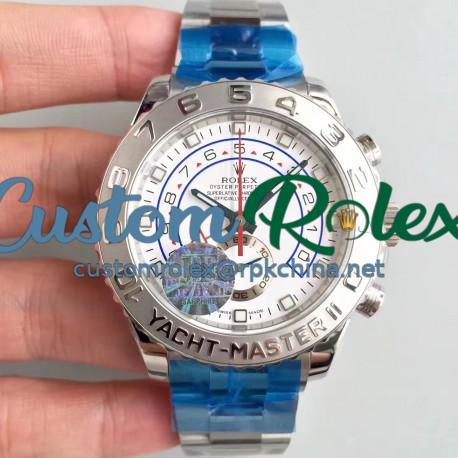 Replica Rolex Yacht-Master II 116689 JF Stainless Steel White Dial Swiss 7750
