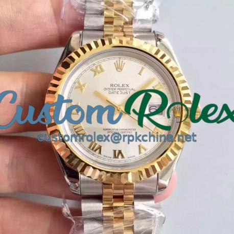Replica Rolex Datejust 41 126333 41MM NF Stainless Steel & Yellow Gold Rhodium Dial Swiss 2836-2