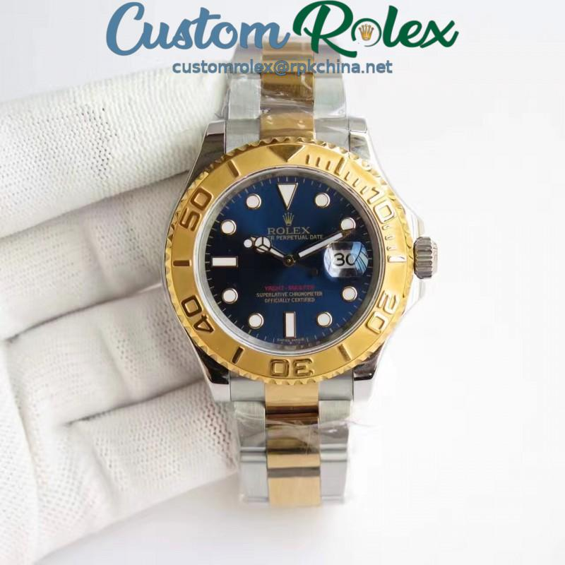 Replica Rolex Yacht-Master 40 116622 JF Stainless Steel & Yellow Gold Blue Dial Swiss 2836-2